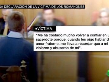 La declación de la víctima en el caso del clan de los Romanones
