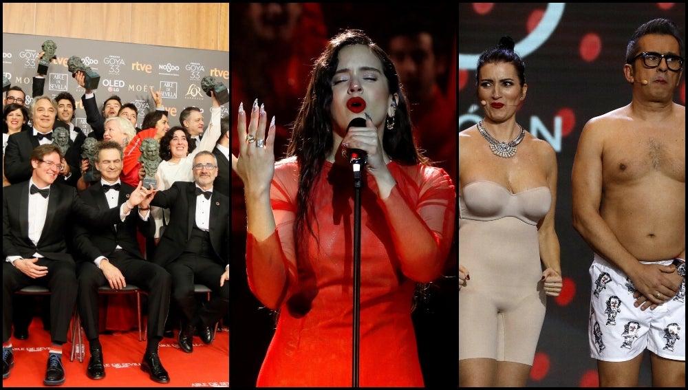 Premios Goya 2019 La Entrega De Los Premios La Actuación De Rosalía El Desnudo De Buenafuente Y Abril Los Mejores Momentos De La Gala