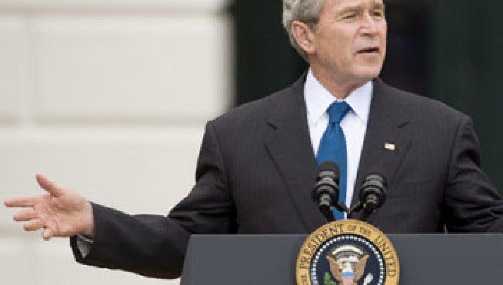 George Bush en Wall Street