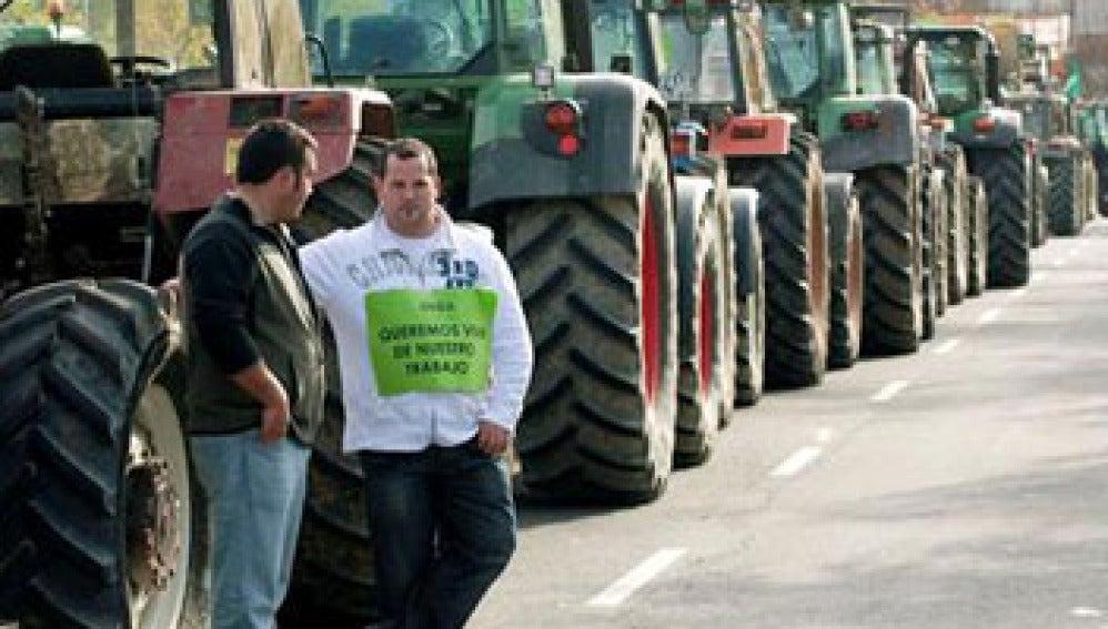 Paro de tractores en Vitoria