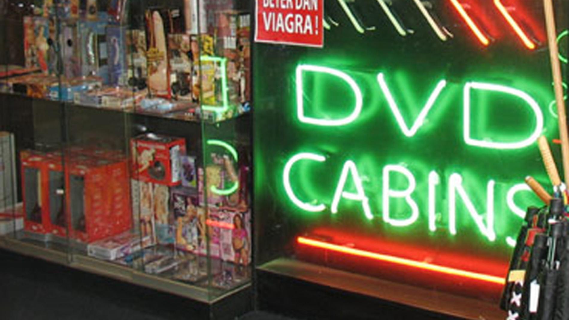 Imagen de un videoclub porno
