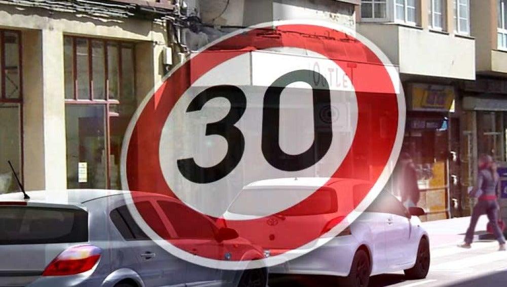 Circulación a 30 kilómetros por hora