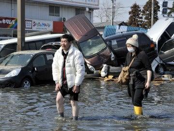 Afectados por el tsunami en Japón