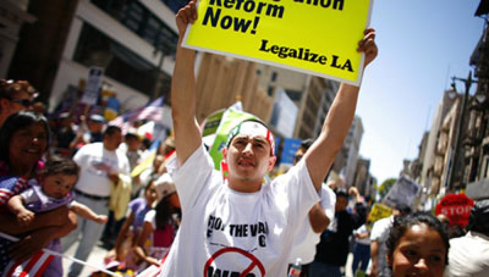 Manifestaciones para reformar la ley de inmigración en EEUU