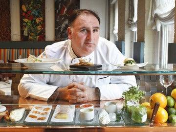 José Andrés en su restaurante de Washington