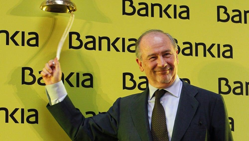 Rodrigo Rato en el debut de Bankia en la Bolsa