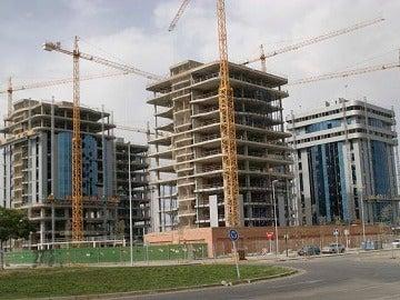 Imagen de archivo de un edificio en construcción