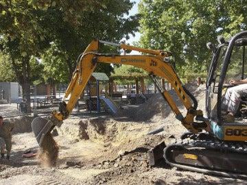 Trabajos de exhumación por la ley de la Memoria Histórica