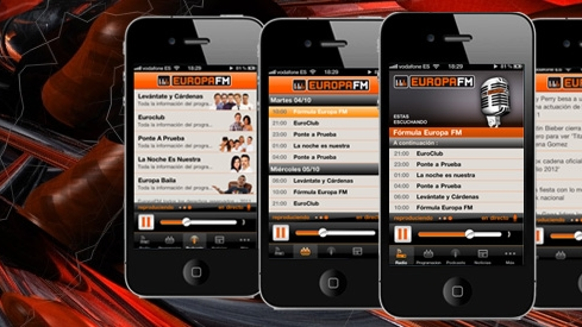 Aplicación para iPhone de Europa FM