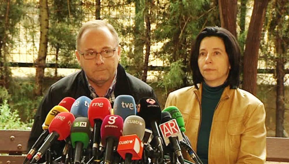 Los padres de Marta del Castillo, Antonio del Castillo y Eva Casanueva.