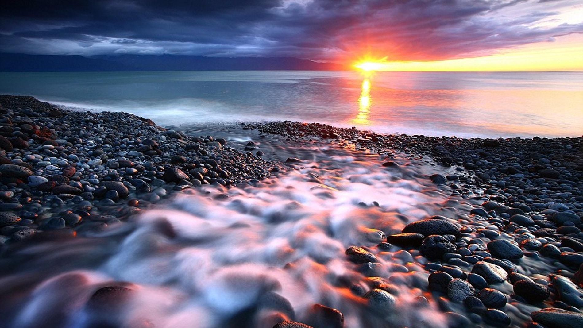 Puesta de sol en Islandia