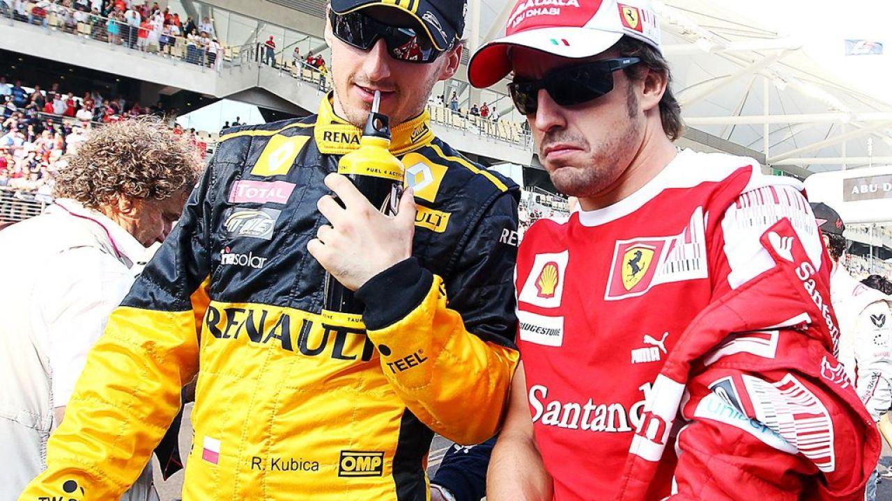 Robert Kubica y Fernando Alonso