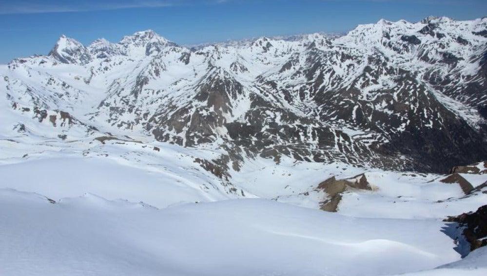 Los Alpes italianos nevados