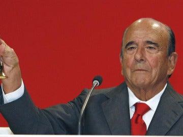 Emilio Botín durante la Junta de Accionistas de Universia