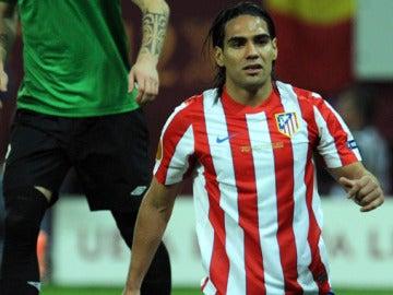 El jugador colombiano del Atlético de Madrid Falcao