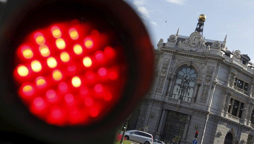 Imagen de la fachada principal del Banco de España