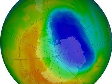 Imagen de la capa de ozono