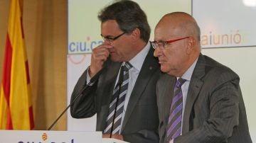 Duran i Lleida y Artur Mas en una imagen de archivo