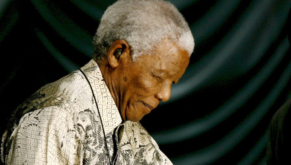 El expresidente de Sudáfrica Nelson Mandela