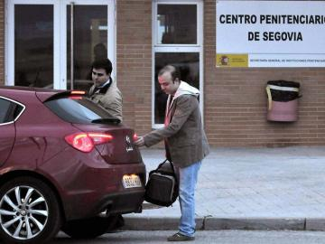 Ángel Carromero, a su salida de la prisión de Segovia.