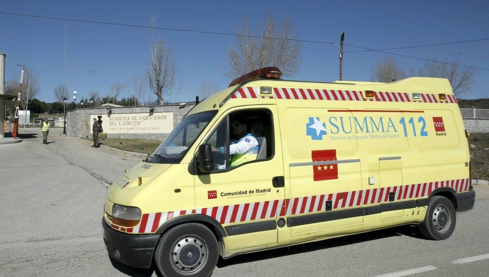Una ambulancia del SUMMA en un suceso.
