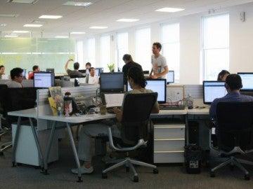 Ambiente de trabajo en una oficina
