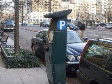 Parquímetro en las calles de Madrid