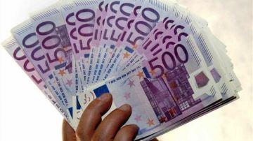 Un fajo de billetes de 500 euros