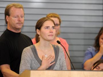 Amanda Knox durante el juicio de 2011
