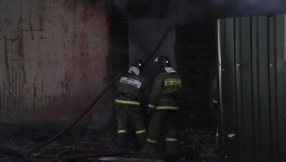 Un incendio en Moscú