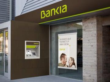 La fachada de una entidad de Bankia