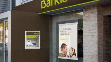 La fachada de una agencia de Bankia