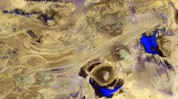Gran desierto de sal en Irán