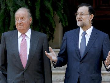 Don Juan Carlos con Rajoy