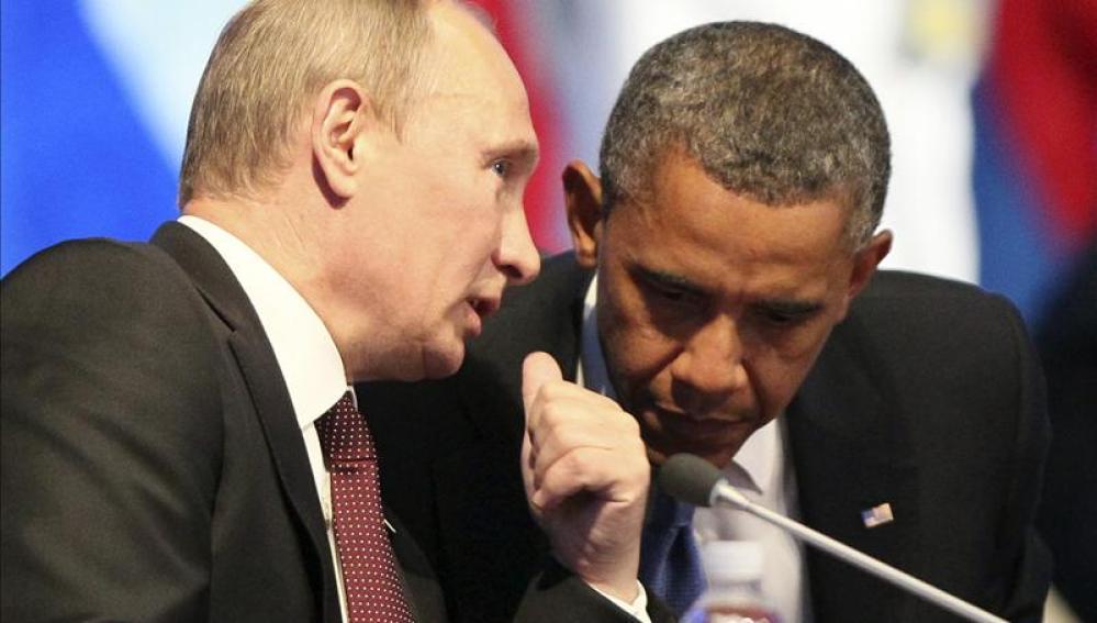 Barack Obama y Putin en una imagen de archivo