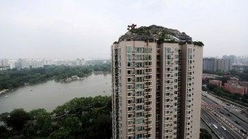 Imagen de la construcción creada en lo alto del edificio