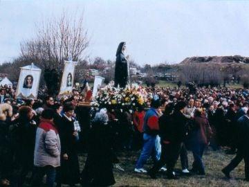Imagen de archivo de una procesión en Prado Nuevo