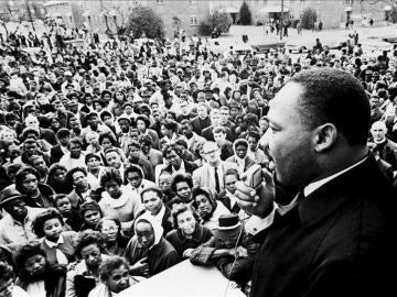 Luther King durante un discurso