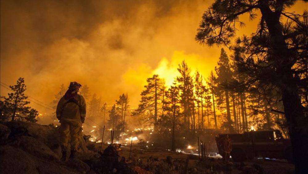 Incendio en el parque nacional de Yosemite