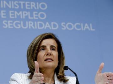 Fátima Báñez ante los medios habla sobre la reforma de las pensiones