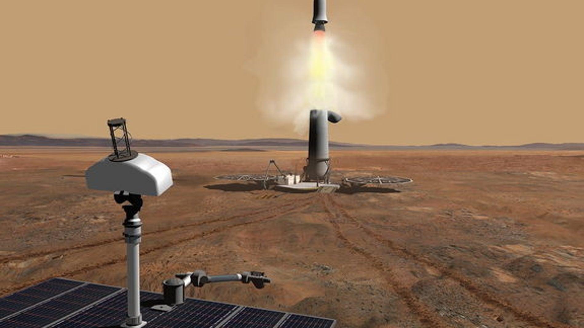 Diseño por ordenador del cohete para la recogida y posterior traslado de muestras extraplanetarias