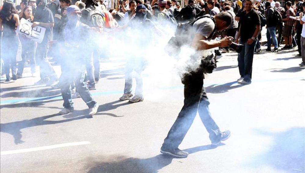 Protestas y disturbios en Brasil en el  el día de la independencia