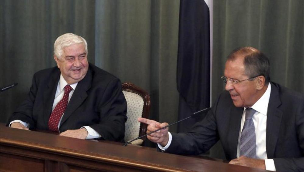 Los ministros de Exteriores sirio y ruso