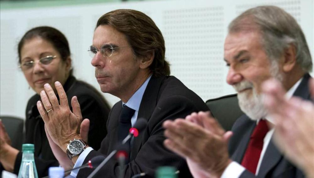 Expresidente del Gobierno y presidente de FAES, José María Aznar en el acto de homenaje