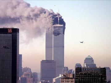 Imagen del atentado contra las torres gemelas