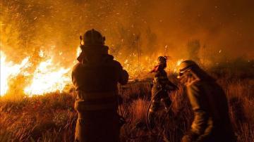 Incendio forestal en Ames