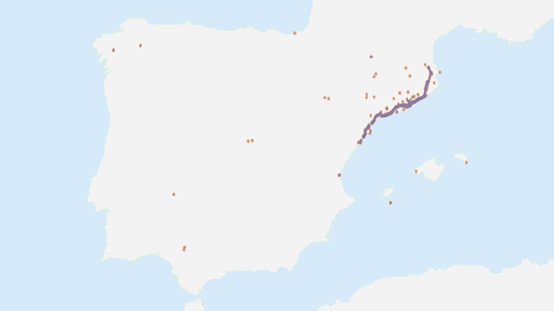 Tuits de la Via catalana