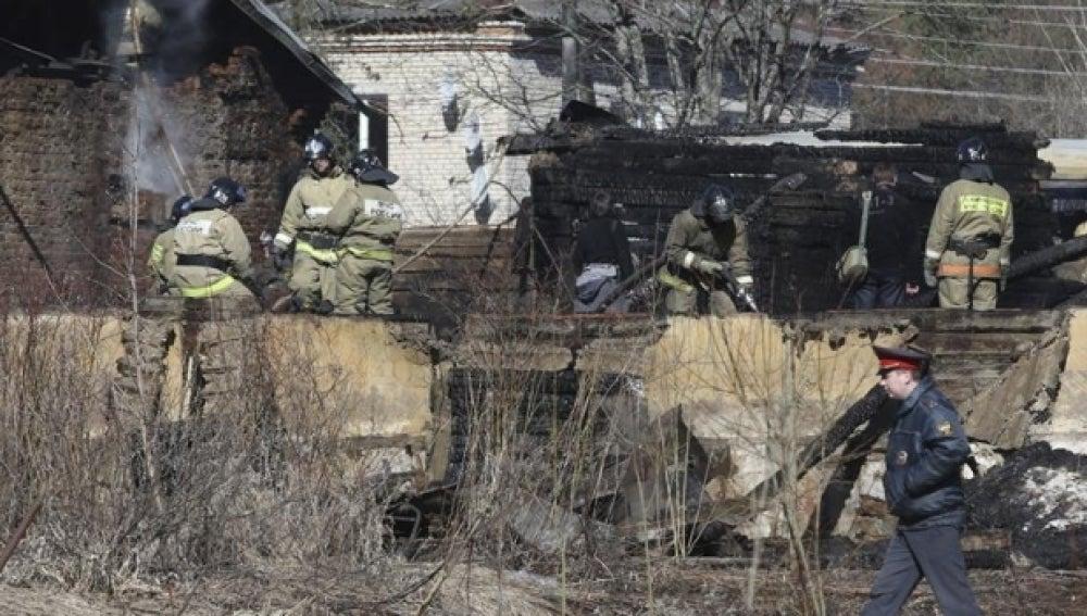 Imagen del hospital psiquiátrico que ha sufrido el incendio en Rusia.