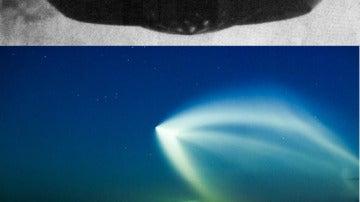 Representación ficticia de un OVNI