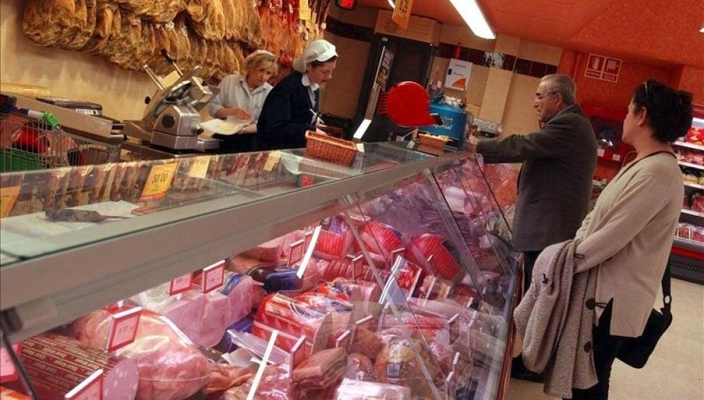 Compras en una carnicería
